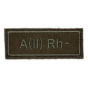"""""""A(II) RH-"""" (blood type) VKBO patch (velcro)"""