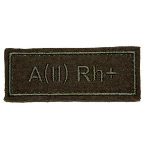 """""""A(II) RH+"""" (blood type) VKBO patch (velcro)"""
