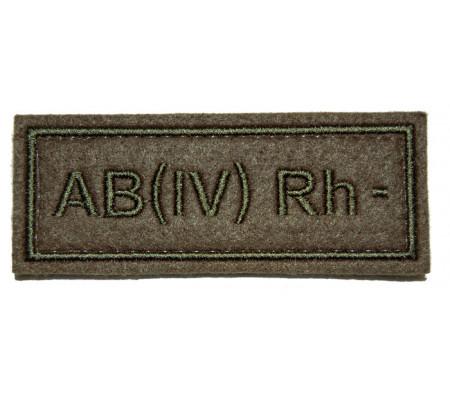 """AB(IV) RH-"" (blood type) VKBO patch (velcro)"