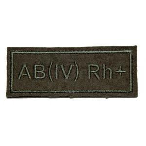 """AB(IV) RH+"" (blood type) VKBO patch (velcro)"