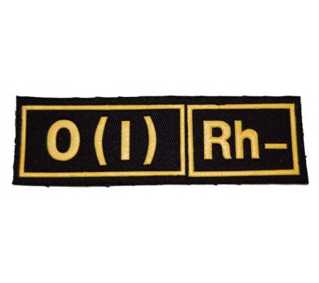 """O(I) RH-"" (blood type) Black patch (plastic)"