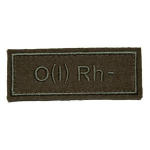 """""""O(I) RH-"""" (blood type) VKBO patch (velcro)"""