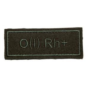 """""""O(I) RH+"""" (blood type) VKBO patch (velcro)"""