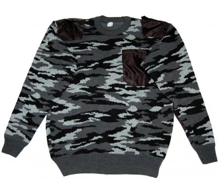 "Winter sweater with pocket ""Seriy Kamysh"""